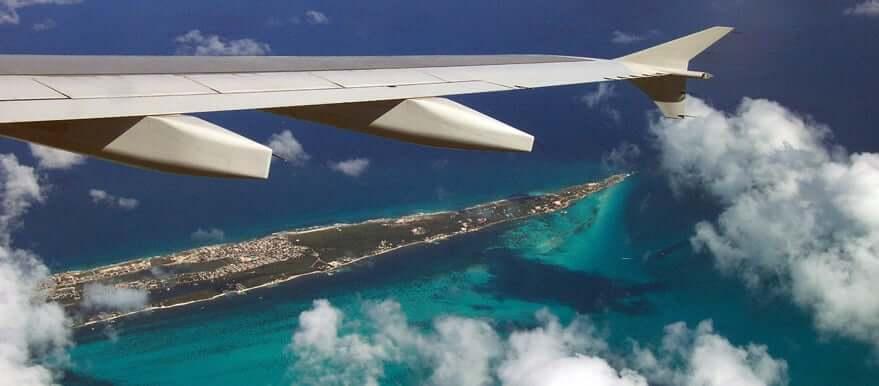 Tiempo en avión hasta Cancún