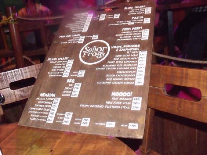 Que comer/beber en la discoteca y bar Señor Frog's en Cancún
